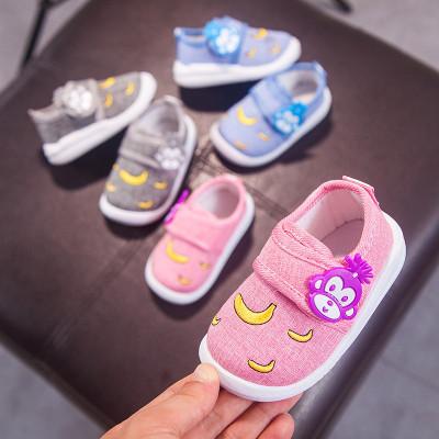 莎丞 春秋季运动单鞋0-3岁婴儿学步鞋软底男女宝宝防滑小童网面透气