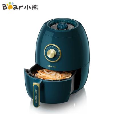 小熊(Bear)空氣炸鍋 QZG-A14D1 綠色 3L大容量全自動智能定時可調溫電炸鍋無油煙空氣炸鍋