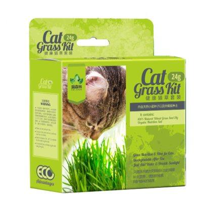 貓森林貓草營養土大麥貓草種子帶盆貓草去毛球促消化貓零食
