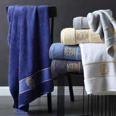 康爾馨五星級酒店浴巾男純色加大毛巾柔軟加厚浴巾家用純棉吸水盧森堡浴巾