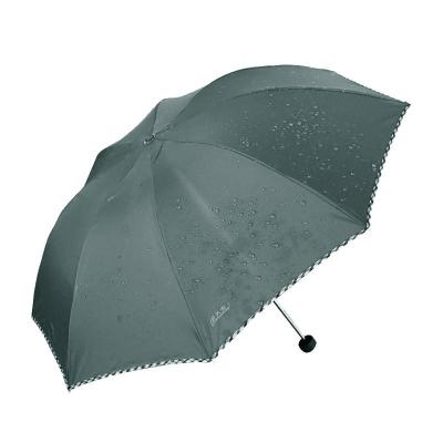 天堂 307E碰擊布格子布包邊三折商務傘晴雨傘