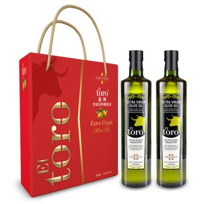滔利EL TORO特级初榨橄榄油食用油西班牙进口 750ML*2瓶 节日礼盒装 企业福利 团购礼盒