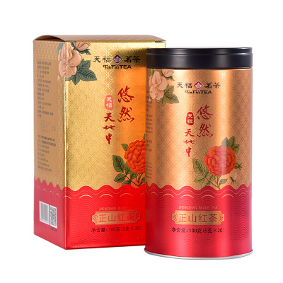 【禮品】天福茗茶 悠然天地中正山紅茶 武夷紅茶茶葉罐裝100克