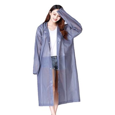 新款EVA環保材質加厚雨衣行走戶外旅游登山釣魚雨衣男女通用防護雨衣時尚