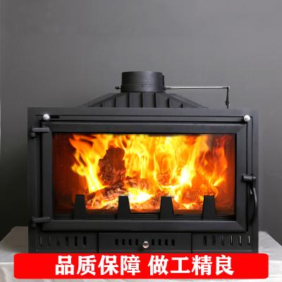 閃電客壁爐真火燃木家用取暖器現代歐式鑄鐵嵌入燒木柴爐芯自建民宿別墅