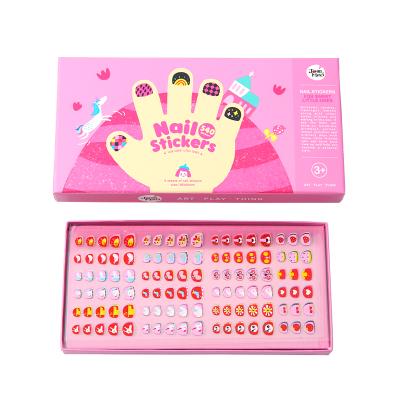 Joan Miro美樂兒童指甲貼女孩美甲貼畫防水寶寶卡通紋身貼安全無毒指甲貼紙 甜蜜花園 益智玩具