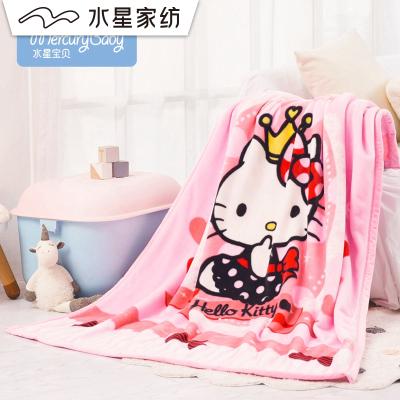 水星寶貝 Hello Kitty恬靜/花躍云絨毯 毛毯兒童卡通