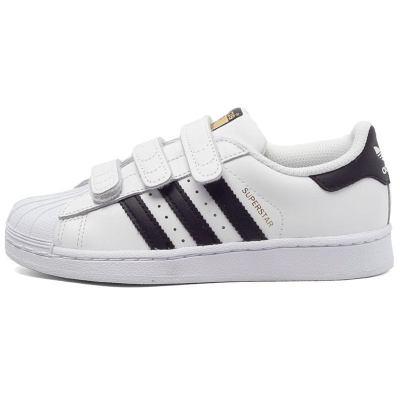 阿迪达斯儿童童鞋(ADIDAS KIDS) 三叶草冬季 男小童 SUPERSTAR 魔术贴休闲鞋 B26070