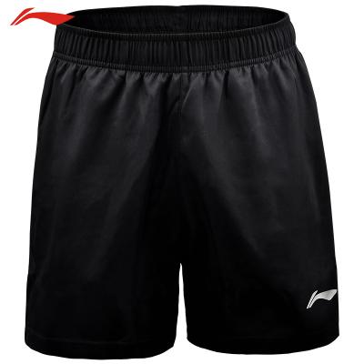 李寧(LI-NING)短褲羽毛球服運動健身服 速干運動服 AKSN721-1