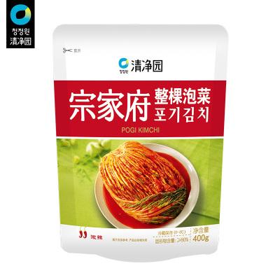 清凈園宗家府韓國整顆泡菜400g*2 韓式小菜袋裝咸菜下飯菜配飯菜小菜