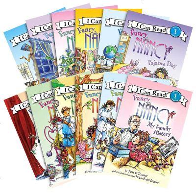 Fancy Nancy 漂亮的南希12册 英文原版 I can read 汪培珽一阶段 小俏妞希希 儿童英语启蒙绘本