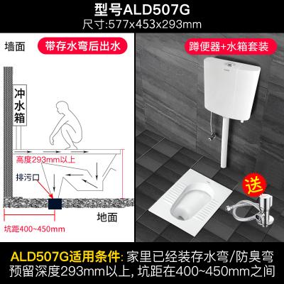 箭牌(ARROW)蹲便器水箱套裝衛浴整套 蹲廁便盆防臭馬桶便池 陶瓷套裝