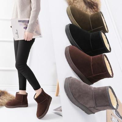 潮2018韓版冬季雪地靴女短筒防滑加厚磨砂短靴棉鞋學生女靴子