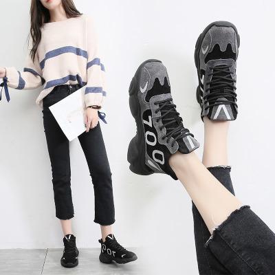 梵蒂加(VENTIGA)女鞋MS-291冬季新款中帮百搭老爹鞋女ins超火潮鞋休闲运动鞋女户外跑步鞋女徒步鞋女