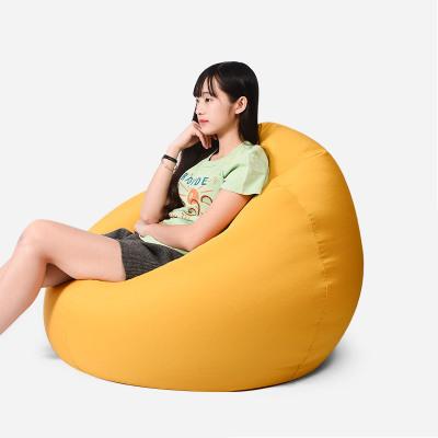 懒人沙发大豆袋榻榻米单人卧室小型个性创意萌萌可爱女孩落地沙发定制! 加大号(黄色100×120cm)