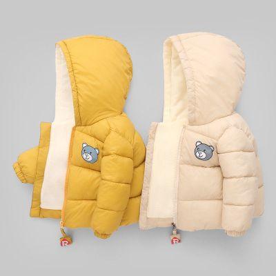 加绒2019儿童运动棉衣婴儿宝宝加厚棉服男童棉袄女童冬装外套 莎丞
