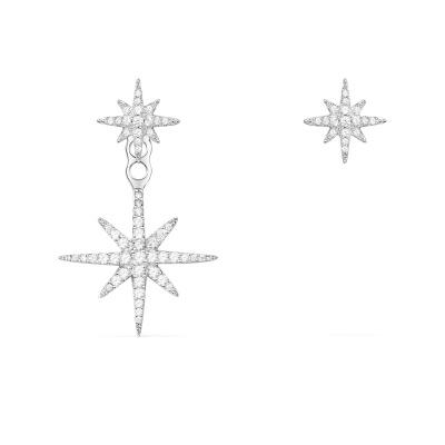 APM MONACO 女士 银色S925银镶晶钻锆石流星耳饰首饰 AE10596OX
