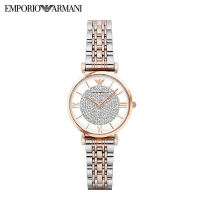 阿玛尼(EMPORIO ARMANI)手表满天星石英表女士手表2019欧美品牌镶钻设计时尚网红手表女防水腕表