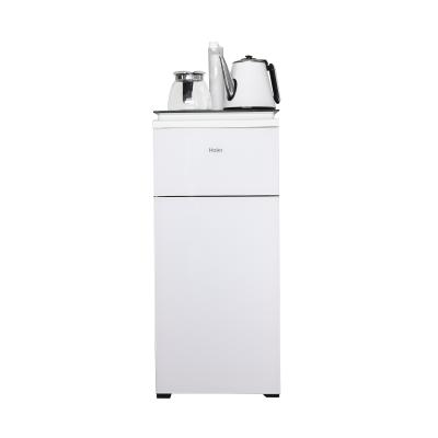 海爾Haier 柜式溫熱型飲水機全自動家用茶吧機 YR1682-CB(升級白)下置水桶自動上水智能觸控水開即停恒溫保溫