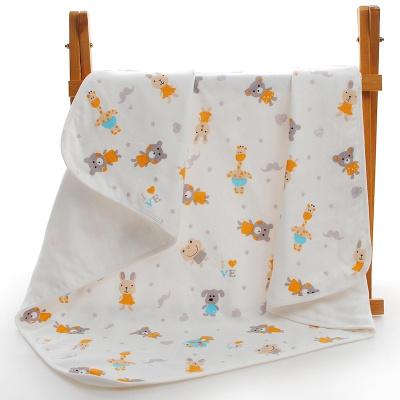 水云丫丫純棉童被紗布印花方被柔軟親膚環保健康兒童空調屋也可用110*110cm