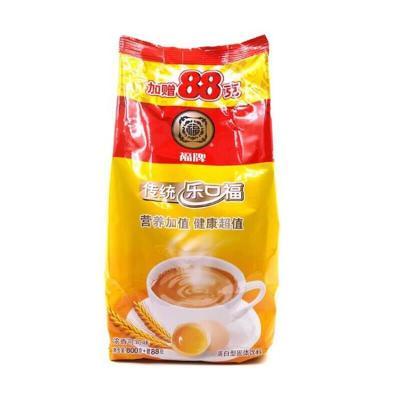 老上海福牌乐口福888g袋装浓香可可味麦乳精乐口福非自营