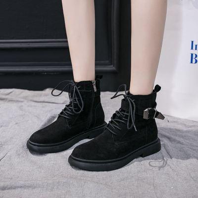 2019新款马丁靴女短靴平底系带英伦复古女靴时尚帅气沙漠靴