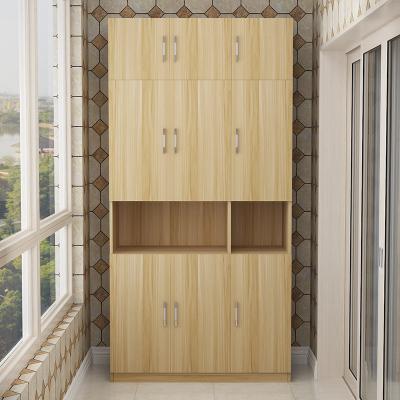 定制 新款防曬陽臺儲物柜定做帶儲物柜收納雜物柜定制! 3們加頂柜高240長120深60 組裝