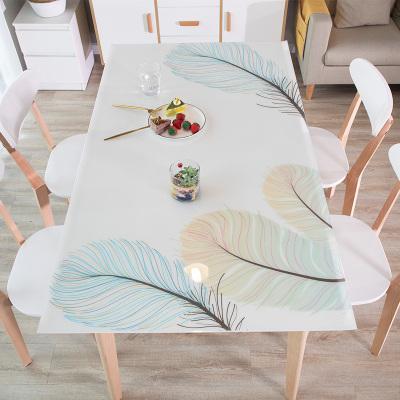 權夫人定制餐桌墊茶幾網紅厚水晶板軟玻璃PVC防水防燙防油免洗塑料桌布