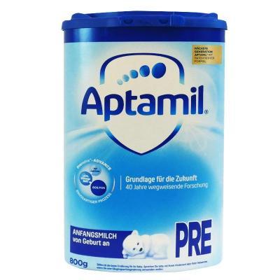 aptamil德國愛他美嬰幼兒配方奶粉pre段0-6個月以上800g德國原裝進口