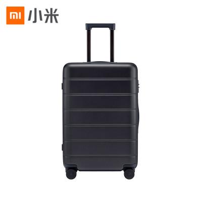 小米(MI)拉杆箱 高弹性万向静音轮旅行箱 TSA海关锁简约商务登机箱 24英寸 黑色
