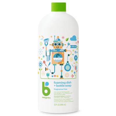 甘尼克寶貝(BabyGanics)貝奶瓶清潔劑桶裝 無香 946ml