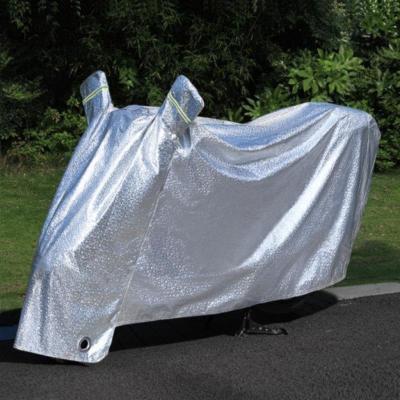 车战线 电动摩托车防晒防雨罩车罩电瓶遮雨罩加厚车衣套遮阳盖布防尘罩子亮银色 2XL