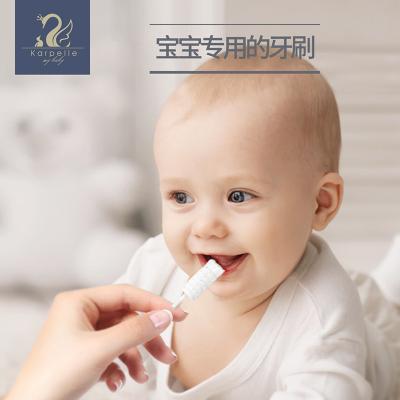 英國karpelle嬰兒口腔清潔棉棒新生兒童乳牙刷軟毛寶寶舌苔清潔器