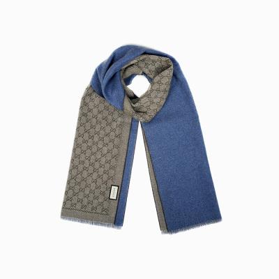 【直營】GUCCI 古馳 男女中性經典雙G純羊毛圍巾 175*34cm