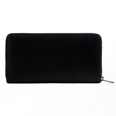 ARMANI阿瑪尼錢包 男 商務簡約男女同款黑色牛皮尼龍長款錢包錢夾/卡包手拿包手包