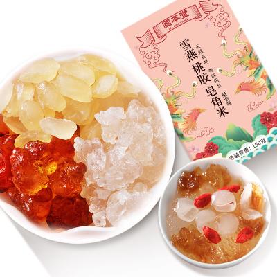固本堂桃膠皂角米雪燕組合150g食用單頰雪蓮子桃花淚