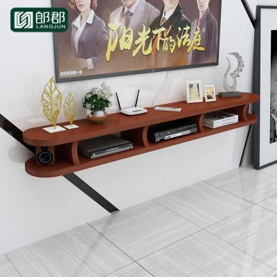 郎郡簡易壁掛電視柜現代簡約小戶型客廳墻掛式收納柜臥室機頂盒置物架