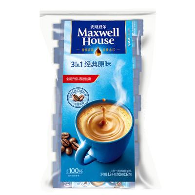 麦斯威尔 经典原味三合一速溶咖啡饮品 1300g/包 100条袋装(新老包装交替发货)