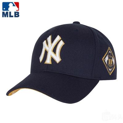 MLB2020春夏新款正品美職棒NY棒球帽情侶款鴨舌帽韓版彎沿帽子休閑運動遮陽帽