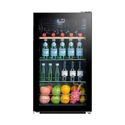 美的(Midea)JC-95GMA(E)家用恒溫紅酒柜冰吧冷藏雪茄酒柜玻璃冰柜