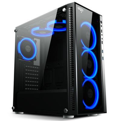 爱国者DIY电脑主机机箱 全透玻璃分体式水冷机箱 炫影2