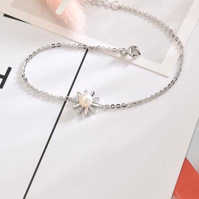 京潤珍珠 晴天 摩洛哥風情系列銀S925淡水珍珠手鏈珠寶寵自己送媽媽