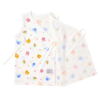 MIKIHOUSE HOT BISCUITS新生兒無袖印花短內衣/肌著