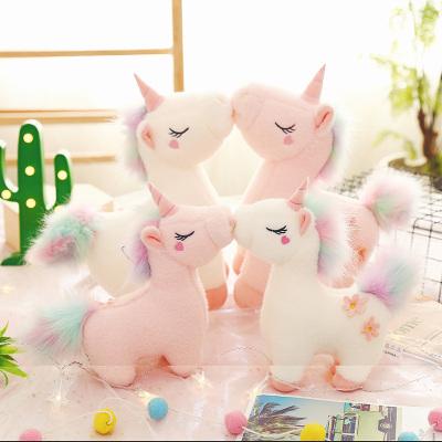 吉婭喬(Ghiaccio)毛絨玩具 趴款獨角獸公仔 創意毛絨玩具大號抱枕兒童禮物布娃娃 網紅女孩生日禮物 可愛獨角馬