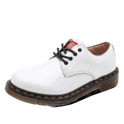 Dickies女鞋秋冬新款大头皮鞋女低帮休闲圆头潮鞋子白色真皮单鞋193W50LXS8F