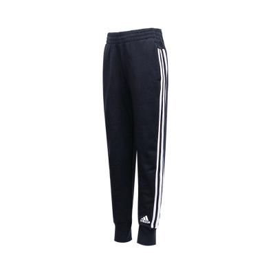 阿迪達斯童裝女童2020新款針織長褲兒童三條紋運動褲子DV0318