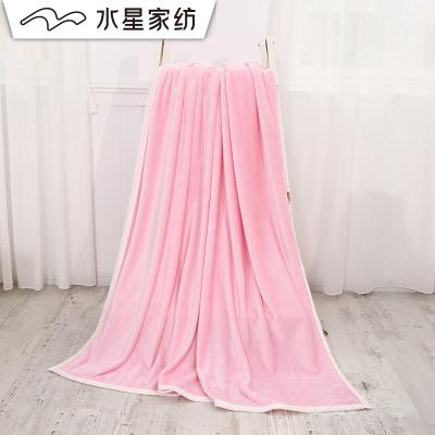 水星家紡 夢幻多多法蘭絨毯 單人雙人純色床單毯子學生宿舍蓋毯