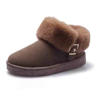 雪地靴女冬季2019短筒短靴韩版百搭时尚加厚加绒保暖棉鞋