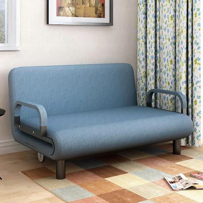 明思鑫德小戶型客廳簡約現代懶人多功能可折疊單人雙人三人沙發布藝沙發床貴妃躺椅