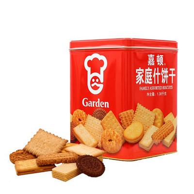嘉顿(Garden) 家庭什饼干铁罐礼盒装1380g 年货礼盒